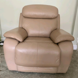 Recliner Armchair. All Leather. Matching sofa also available