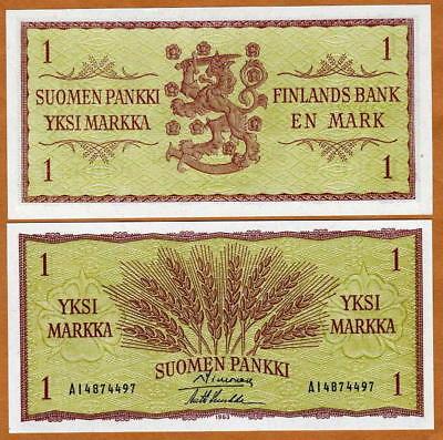 Finland, 1 Markka, 1963, P-98, the last pre-Euro, UNC