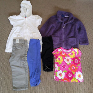 16-piece lot of toddler girl hooded towel, bottoms, 18-24 months