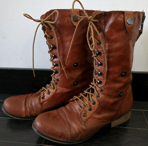 Steve Madden Chevie brown leather boots ladies 10