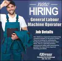 General Labour/Machine Operators Wanted ***IMMEDIATE START***