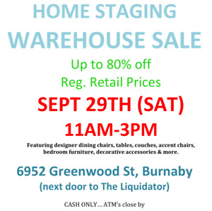 HOME STAGING WAREHOUSE SALE  (EX-DISPLAY HOME/SUITE FURNITURE)