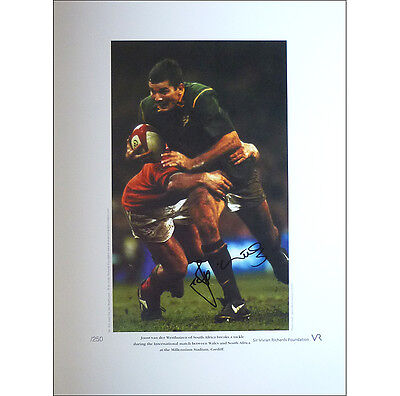 Joost van der Westhuizen signed limited edition print