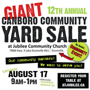 GIANT Dunnville Area Community Yard Sale - Over 70 Tables