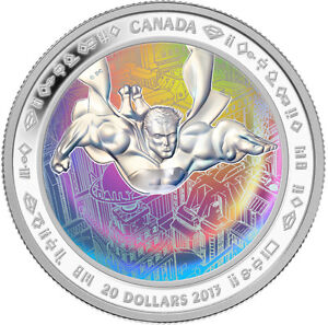 1 oz $20 Fine Silver Hologram Coin - Superman™ SOLD OUT AT MINT London Ontario image 2