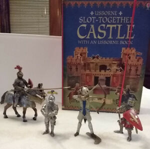 knight figurines and castle kit