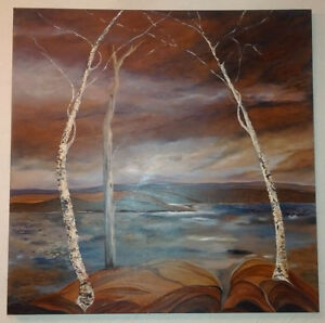 Signed Art Gallery Textured Oil Canvas Painting
