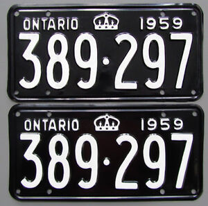 Vintage YOM License Plates - Ministry Approval Guaranteed! Peterborough Peterborough Area image 9