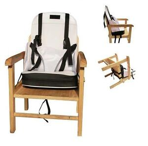 Portable Baby Booster Seat Travel High Chair 5 Straps Foldable Easy Carry Case