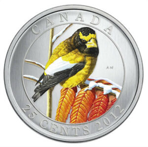 CANADA-2008-FAMOUS-BIRD-SERIES-25-CENT COLOURED-COIN-NORTHER