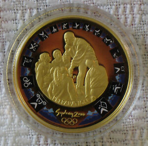 Sydney 2000 Olympics 10 gm PURE GOLD Coin, Australia, Perth Mint