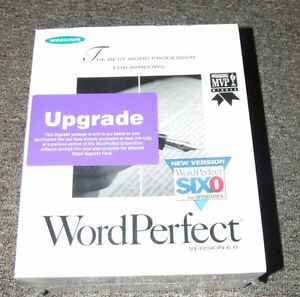 WordPerfect 6.0 Upgrade - NEW - SEALED - $20.00