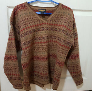 Brown Woolrich Lambswool Sweater