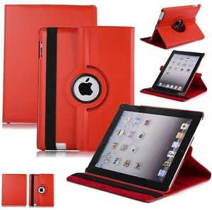 NEW RED 360 ROTATING PU LEATHER CASE COVER STAND FOR IPAD AIR Regina Regina Area image 1
