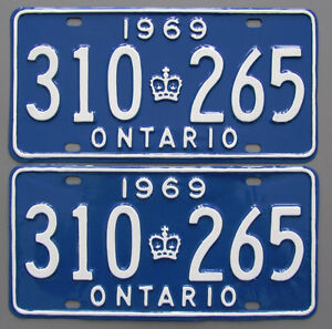 Vintage YOM License Plates For Your Classic - MTO Guaranteed! Cornwall Ontario image 9
