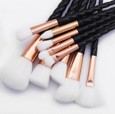 10pcs Make Up Brush Set Professional Cosmetic Kit for Foundation Unicorn Design