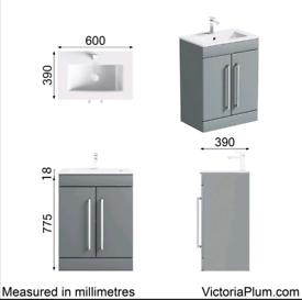 Grey Bathroom Derwent Vanity