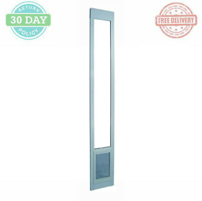 Pet Patio Sliding Door Aluminum Frame Flexible Vinyl Magnetic Flap LockOut Panel ()