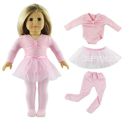 Hot Handmade Pink Clothes Dress Fits for 18 Inch American Girl Dolls on Rummage