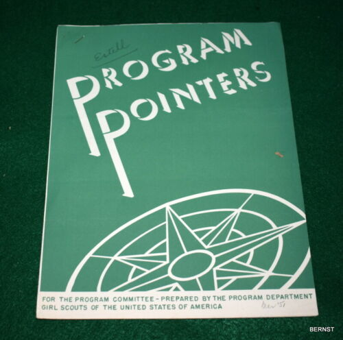 VINTAGE GIRL SCOUT - MARCH 1951 PROGRAM POINTERS