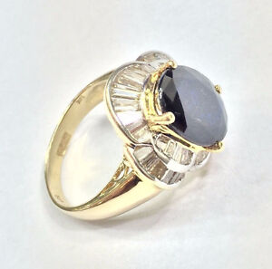 Piece Of Art Diamond And Sapphire Dinner Lady's Ring ..MAGISTIC