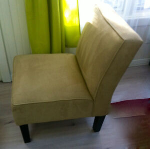 2 SLIPPER CHAIRS IN EXCELLENT CONDITION FOR $150.00 EA.