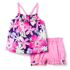 Pink flowered set 0-3M and 3-6M, Stripped bow dress set 3-6M