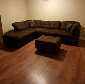 Brown sectional sofa set for sale