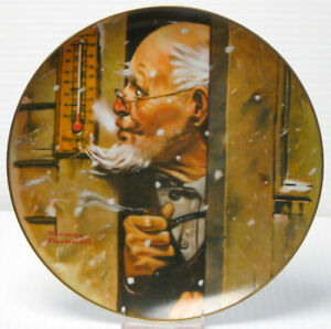 "Norman Rockwell "" ""Old Man Winter"" Collector Plate"