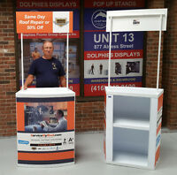 Sampling Promo Table Event Counter Kiosk Podium Stand + Graphics