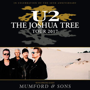 U2 w/ Mumford and Sons Tickets - BC Place Stadium May 12th 2017