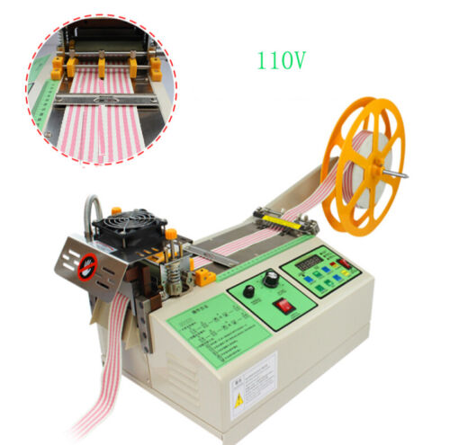 New 110V Hot And Cold Automatic Tape Cutting Machine for Cutting Various Straps