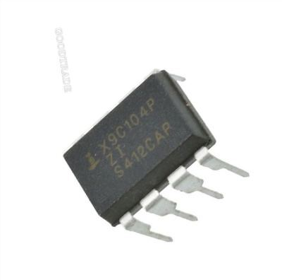 10pcs Digital Potentiometer X9c104p Dip-8 X9c104 Us Stock E