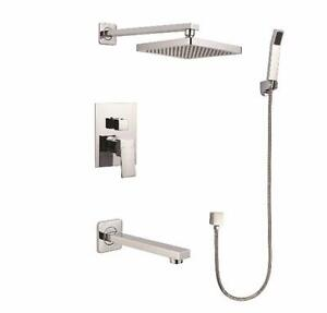 Shower and bath system, Chrome finish, NEW IN BOX, Elegance brand