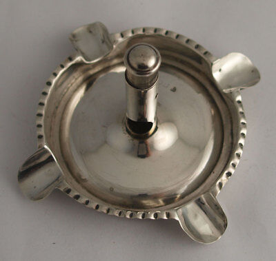 Rare Solid Silver Cigar Cutter Ashtray Combination - Birm. 1909