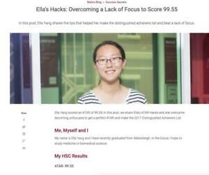 HSC + HIGH SCHOOL TUTORING - UNSW MED STUDENT