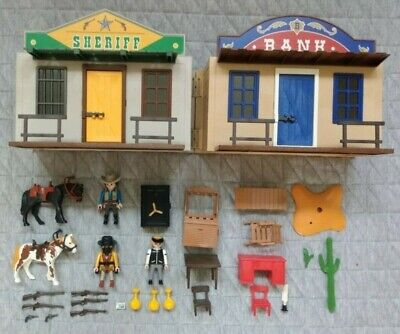 Playmobil 4398 Western Carry House Sheriff's Jail & Bank, no box, see decription