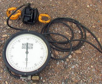 Martin Decker Hydraulic Crane Scale 1000 Sd12-001 Sensater 20 Hose 12 Dial
