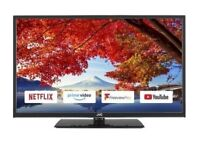*FREE DELIVERY = BEAUTIFUL 32 JVC BOXED SMART TV LED = LIKE NEW STYLISH TELEVISION FREEVIEW