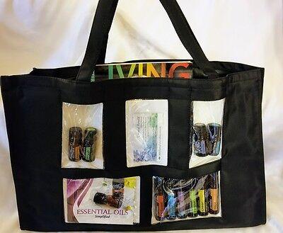 Black Clear Photo Pocket Samples Party Consultant Tote Purse Brag Bag Scrapbook Photo Brag Bag