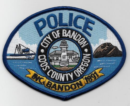 Lighthouse patch Bandon Police State Oregon OR