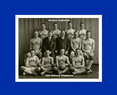 Kansas Jayhawks Mat - kANSAS JAYHAWKS matted 1923-24 NATIONAL CHAMPIONS basketball team photo