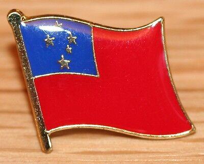 (SAMOA Country Metal Flag Lapel Pin Badge)