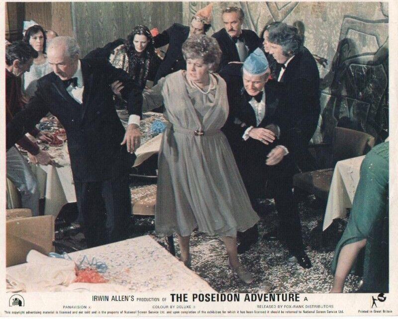 THE POSEIDON ADVENTURE lobby card  print # 2 GENE HACKMAN, SHELLY WINTERS
