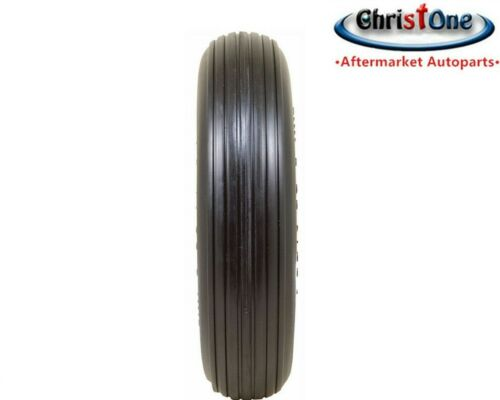 """14.5"""" Universal Flat Free Ribbed Tire Replaces 4.80/4.00-8  Centered Hub 3""""-6"""""""