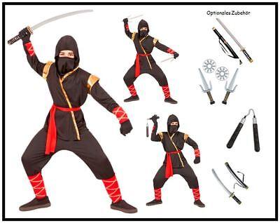 ämpfer Samurai Ninjago Kinder Kostüm Jungen Karneval , (K) (Gold Ninjago Kostüm)