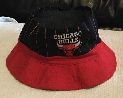 Vintage 1990's Chicago Bull's Pin Stripe Bucket Hat / Large NICE!