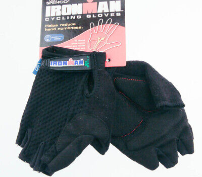 SPENCO IRONMAN TOUR X-Small Cycling Black Road Bike Half Finger Gloves NEW Spenco Cycling Gloves