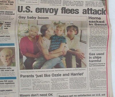 San Jose Mercury News  Fri Oct 1 1989   Gay Baby Boom   Us Envoy In Seoul Attack