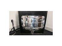 """Premier vintage 1937 Dominion Ace spun shell snare drum 14"""" x 6 & 1/2""""."""